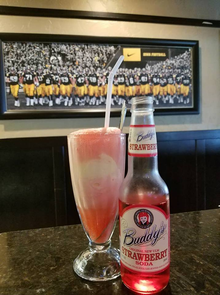 fb buddys float strawberry